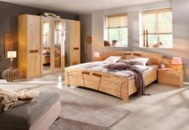 Schlafwelt Schlafzimmer-Set (4-tlg.) »Sarah«, natur, mit Aufstellservice, mit 5-trg. Schrank