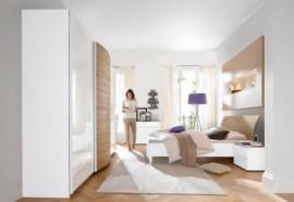 LC LC Schlafzimmer-Set (4-tlg.), weiß, Set mit Schrank Breite 280 cm
