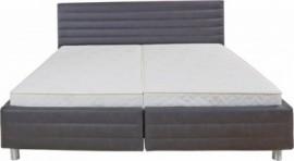 Schlafwelt Polsterbett, grau, Breite 160/200 cm, Bonnell-Federkernmatratze H2, H2