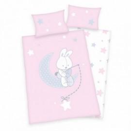 baby best Babybettwäsche »Jana Hase«, rosa, 1x 40x60 cm