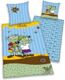 Schlafwelt Kinderbettwäsche »Die Olchis« »Die Olchis«, blau, 1x 80x80 cm
