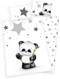 baby best Babybettwäsche »Jana Panda«, weiß, 1x 40x60 cm