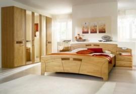 Schlafwelt Schlafzimmer-Set (4-tlg.) »Sarah«, natur, mit Aufstellservice, mit 6-trg. Schrank