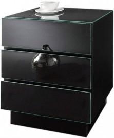 ROOMED roomed Nachtkonsole, schwarz, mit 3 Schubkästen, schwarz