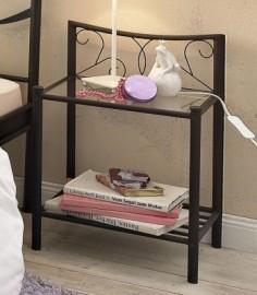 Home Affaire Nachttisch »Princess«, schwarz, schwarz
