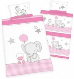 baby best Babybettwäsche »Jana Elefant«, rosa, 1x 40x60 cm